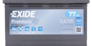 Автомобильный аккумулятор EXIDE Premium Carbon Boost EA770