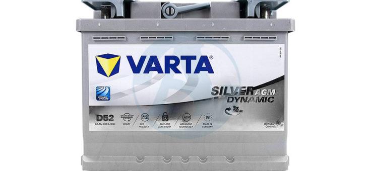 Аккумулятор Varta Silver Dynamic AGM D52
